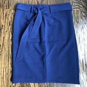NEW! Ann Taylor Blue Pencil Skirt with Waist Tie